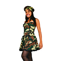 Fantasia Militar Camuflada (vestido)