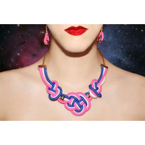 Collar De Cuerda Macrame; Infinite Color