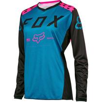 Jersey Fox Switch Mujer Rosa Talla M Motocross Mtb Downhill