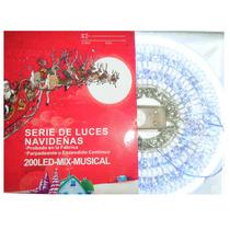 Serie Navideña Musical De 200 Led Blanca Con Azul