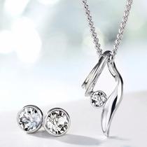 Set Regalo Collar Y Aretes Cristal Swarovski Certificado