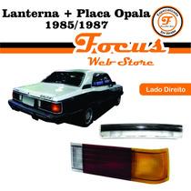 Lanterna + Placa Opala 85 86 87 Tricolor Lado Direito