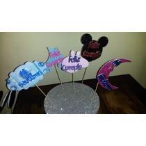 Cartel De Feliz Cumpleaños Mickeyx10 Unid
