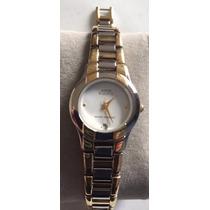 Reloj Anne Klein Plateado Dorado De Mujer Nuevo Autentico