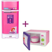 Geladeira Mágica Super Meg + Microondas Magic Toys