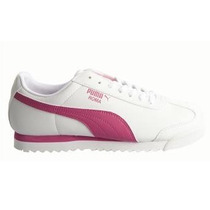 Tenis Puma Roma Basic Mujer Jr Blanco/rosa