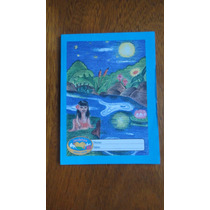 Caderno Brochura 40 Folhas 1/4 Pauta Verde Novo
