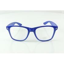Armação Oculos De Grau Quadrada Azul Moderna Atual Show A762