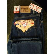 Pantalon Jeans Caballero Talla 34 100%algodon Luis City &co