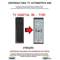 Controle Para Tv Digital Automotiva Bak 7190 Fbt 2082