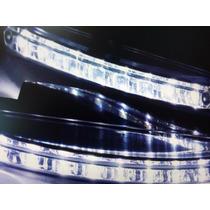 Par De Lanternas Para Carros Universal Led Diurnas C/8 Luzes