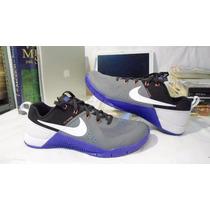 Tenis Nike Metcon1 Gris Blanco Running Cross Training N 7.5