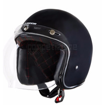Capacete Custom Old School Lucca Cafe Racer + Viseira