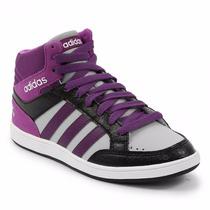 Zapatillas Adidas Neo Hoops Mid K Niños Violeta C/gris