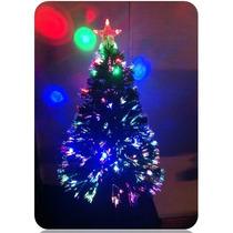 Árvore De Natal Led Fibra Optica Estrela Enfeite Natalino