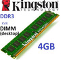 Memoria Ram Kvr Kingston Ddr3 Compatible 1600/1333/1066 4gb