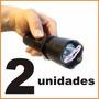 Kit 2 Máquina Aparelho Choque Pistol Grip Taser Lanterna Led