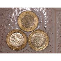 Monedas De 10 Pesos. Leer Características. Lote De 3