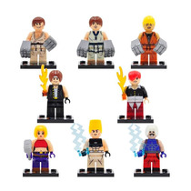 Kof King Of Fighters Set Figuras Comp. Lego Iori Kyo Rugal