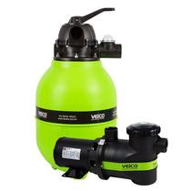 Filtro Para Piscina Veico V-30 E Bomba 1/3 Cv Motor Weg
