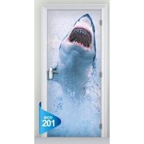 Adesivo 123 Porta Quarto Sala Tubarao Mod 201