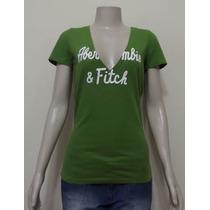 Camiseta Feminina Abercrombie & Fitch Nova E Original !!!