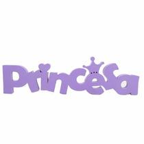Decoração Quarto De Menina Princesa Lilás Princesa Mdf