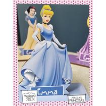 Souvenir Aplique Madera 10cm Princesas Disney Cenicienta