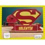 Servilletero Evento Personalizado Madera Heroes Superman Dc