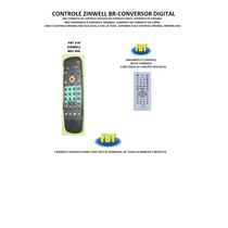 Controle Para Receptor Zinwell Br-conversor Digital
