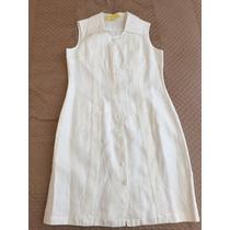 Vestido Guayabera Blanco Talla M