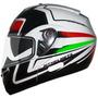 Capacete Mt Optimus Sv Articulado Tricolore Italia Robocop
