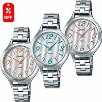 Reloj Casio Ltpe1393 - Cristal Mineral - 100% Original Cfmx