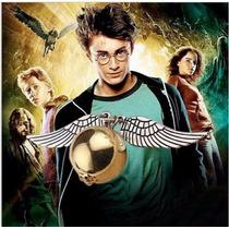 Collar Harry Potter Snitch Angel Alas Doradas, Plateadas
