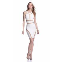 Vestido Langhem Sophie Blanco Entubado - Talla 4 (us)