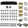 Kit Cftv 32 Cameras Completo Dvr 32 Canais Plat Intelbras Hd