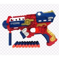 Arma Brinquedo Pistola Nerf Dardo Homem Aranha Vingadores