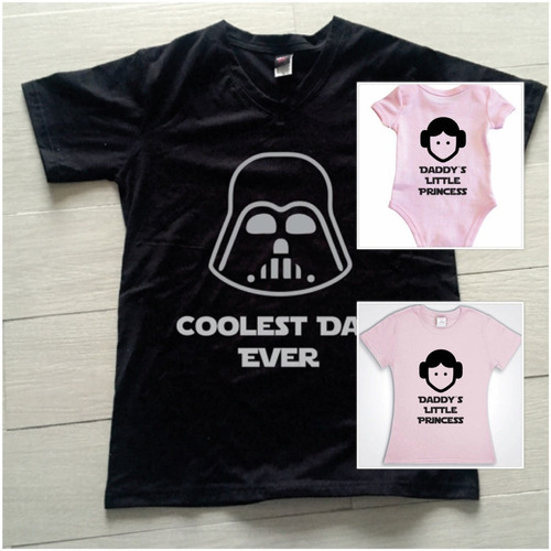 Pkt 3 Playeras Star Wars Papa 2357fa5c397be