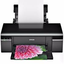 Impresora Epson T50 + Tinta + Plantillas Cd Y Carnet Usada
