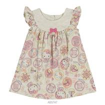 Vestido Infantil Bebê Hello Kitty Estampado Malha 0550.87261