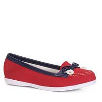 Sapato Dockside Feminino Moleca - Vermelho