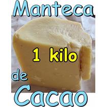 Barra Manteca De Cacao 1 Kilo Alimenticio Chocolate Aceite
