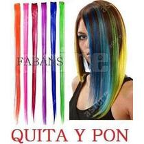 Extensiones De Colores Quita Y Pon Mechas Mechones Cabello