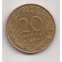 Francia Moneda De 20 Centimes Año 1984