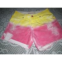 Shorts Jeans Bebela Tie Dye Color Tamanho 40