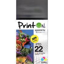 Cartucho Printon Pto22 Tricolor Compatible Con Hp 22 Sellado
