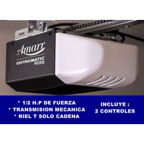 Motor Amarr Entrematic 1/2h.p. ,mecanico Riel T Cadena