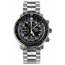 Reloj Seiko Flight Master Sna411 Cronógrafo Acero Inoxidable
