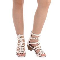 Sandália Salto Gladiadora Feminina Dakota - Branco