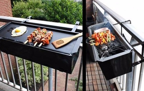 asador parrilla para balcon cancel o pared en mercado libre. Black Bedroom Furniture Sets. Home Design Ideas